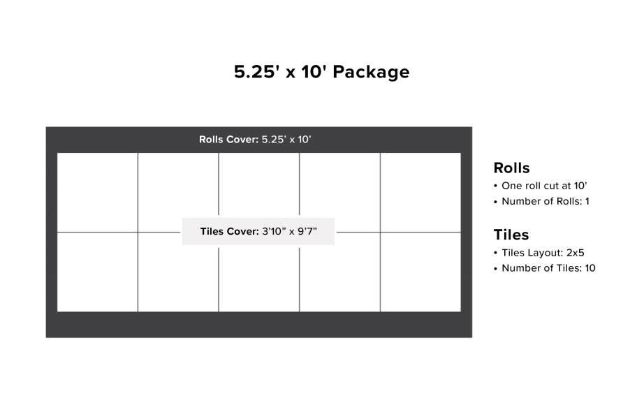 VersaStep Dance Floor Package with Subfloor - 5.25 x 10