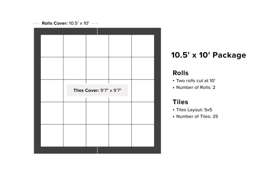 VersaStep Dance Floor Package with Subfloor - 10.5 x 10