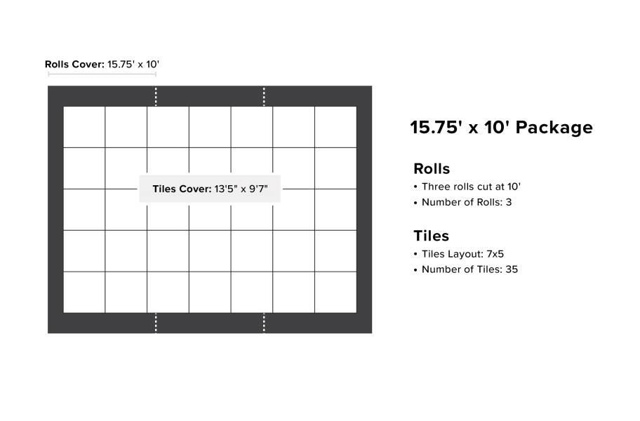 VersaStep Dance Floor Package with Subfloor - 15.75 x 10