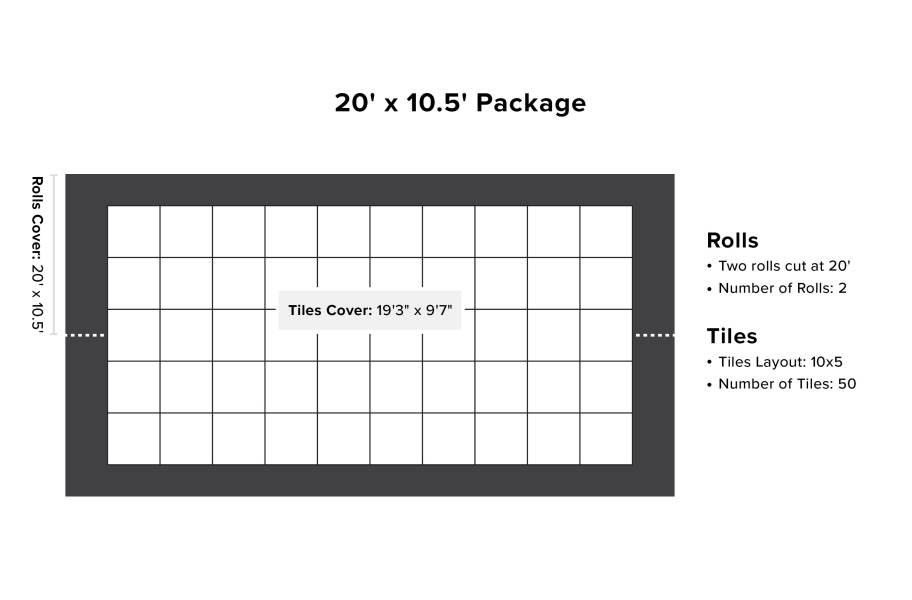 VersaStep Dance Floor Package with Subfloor - 20 x 10.5