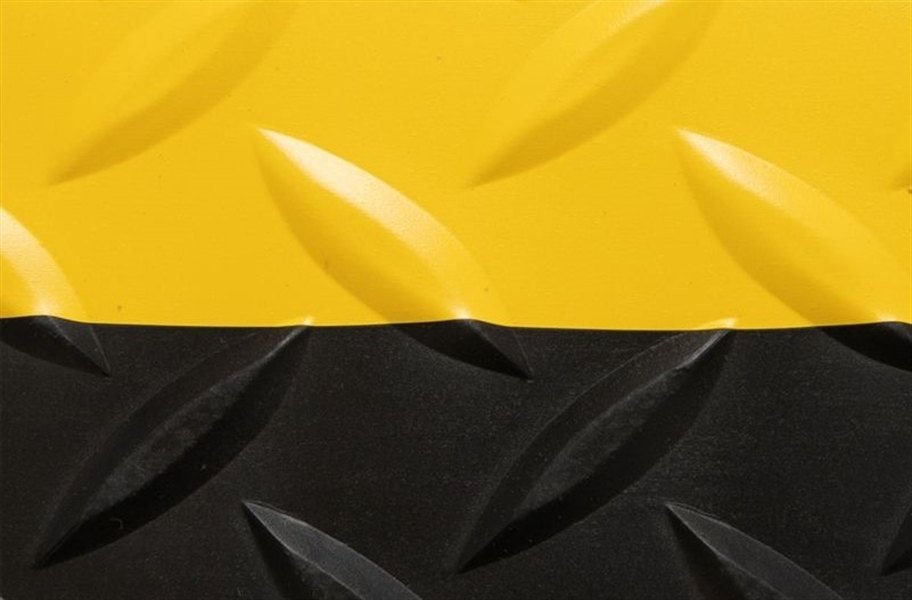 Saddle Trax Anti-Fatigue Mat - Black/Yellow
