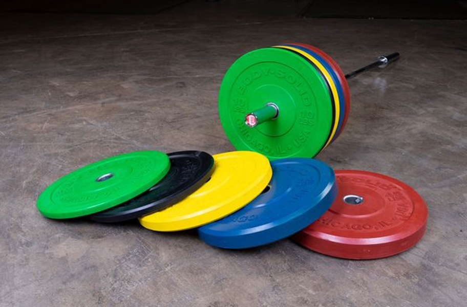 Body-Solid Chicago Extreme Colored Bumper Plates