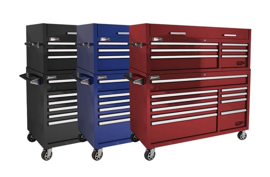 Homak Pro II Roller Cabinet Combo - 54