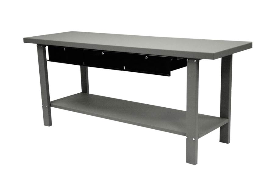 Homak Industrial Steel Workbench w/Drawers - 79