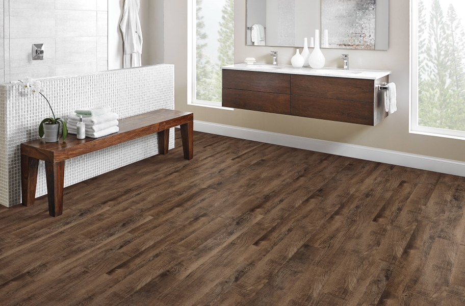 Mohawk Batavia II Plus Luxury Vinyl Planks - Saddleback