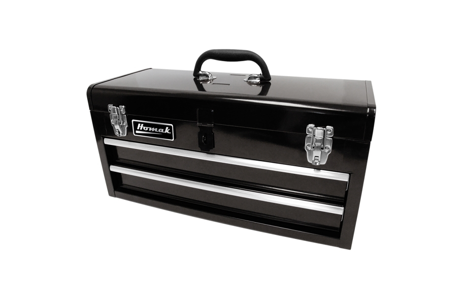 Homak Ball Bearing Toolbox w/Drawers - 2-Drawer Black