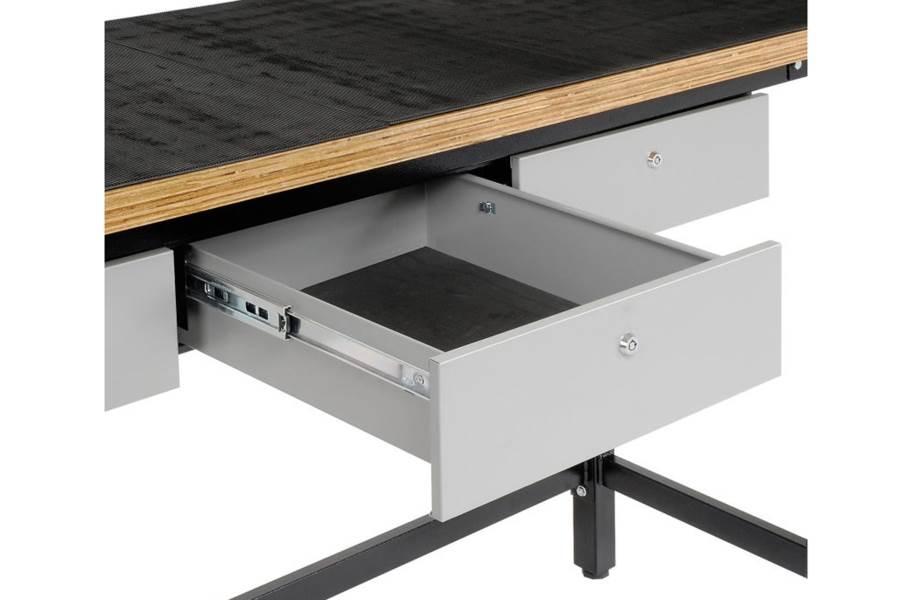 Homak Wood Top Steel Workbench