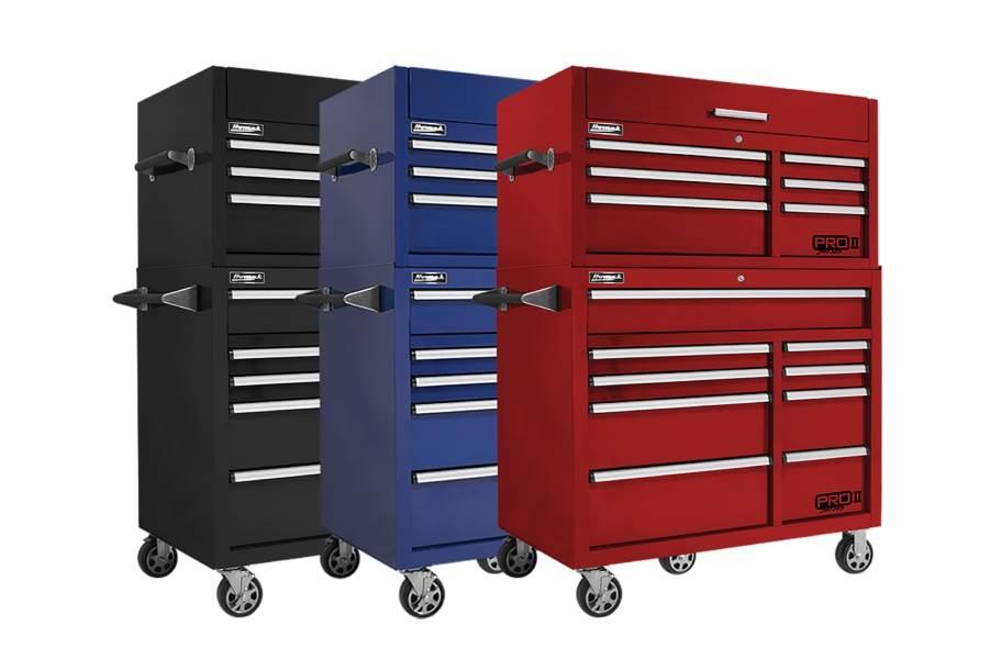 Homak Pro II Roller Cabinet Combo - 41