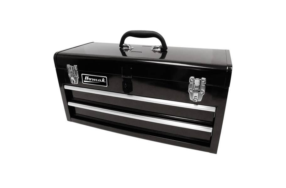 Homak Ball Bearing Toolbox w/Drawers - 2-Drawer Black