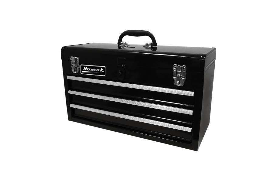 Homak Ball Bearing Toolbox w/Drawers - 3-Drawer Black