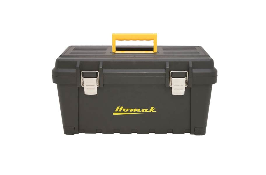 Homak Black Plastic Tool Boxes w/Metal Latches