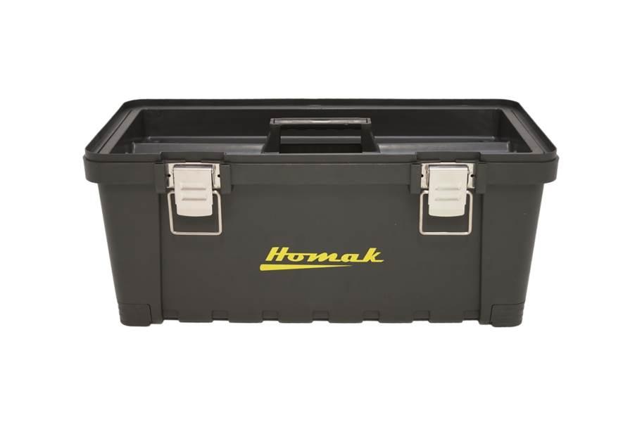 Homak Black Plastic Tool Boxes w/Metal Latches