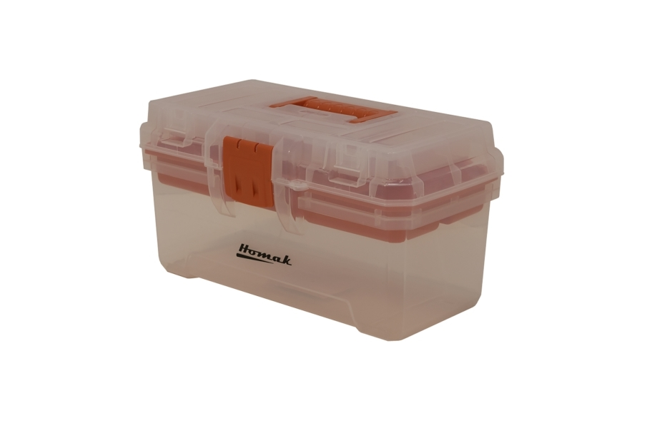 Homak Transparent Hand Carry Tool Box