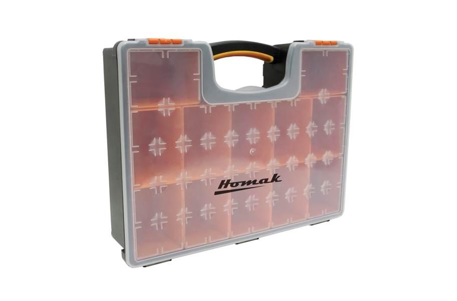 Homak Plastic Organizers w/ Removable Bins - 12 Bin