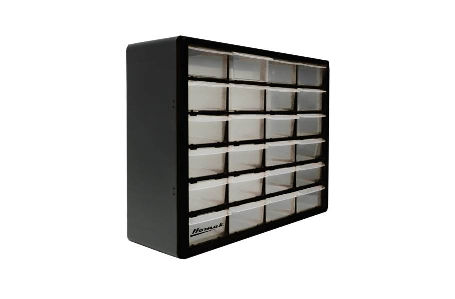 Homak Parts Organizers w/Drawers - 24 Drawer