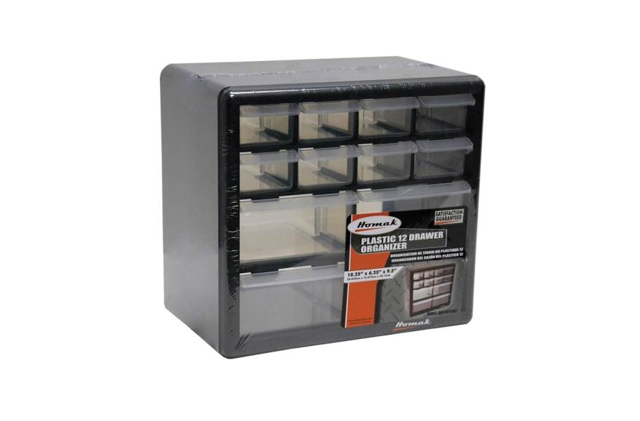 Homak Parts Organizers w/Drawers - 12 Drawer