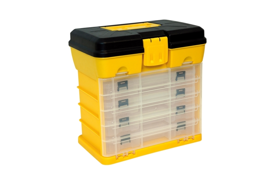 Homak Small Portable Plastic Parts Organizer