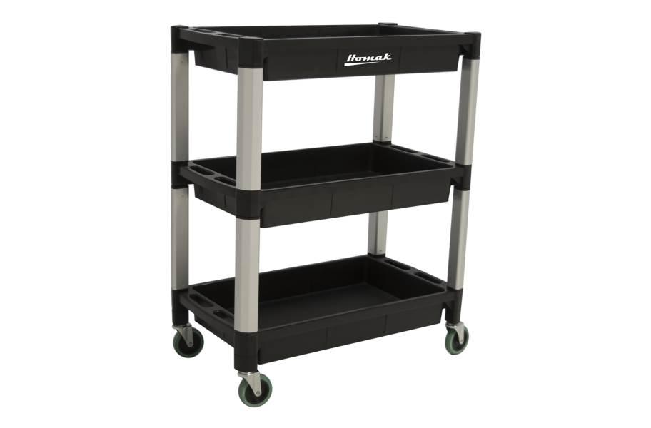 Homak Plastic Utility Carts - 3-Shelf