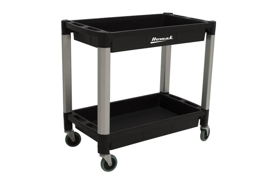 Homak Plastic Utility Carts - 2-Shelf