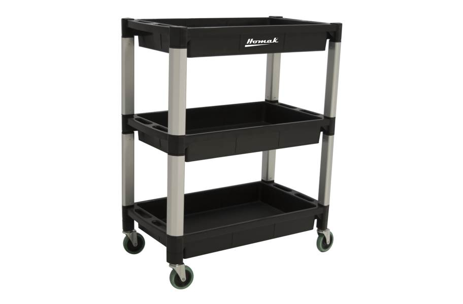 Homak Plastic Utility Carts - 3-Shelf