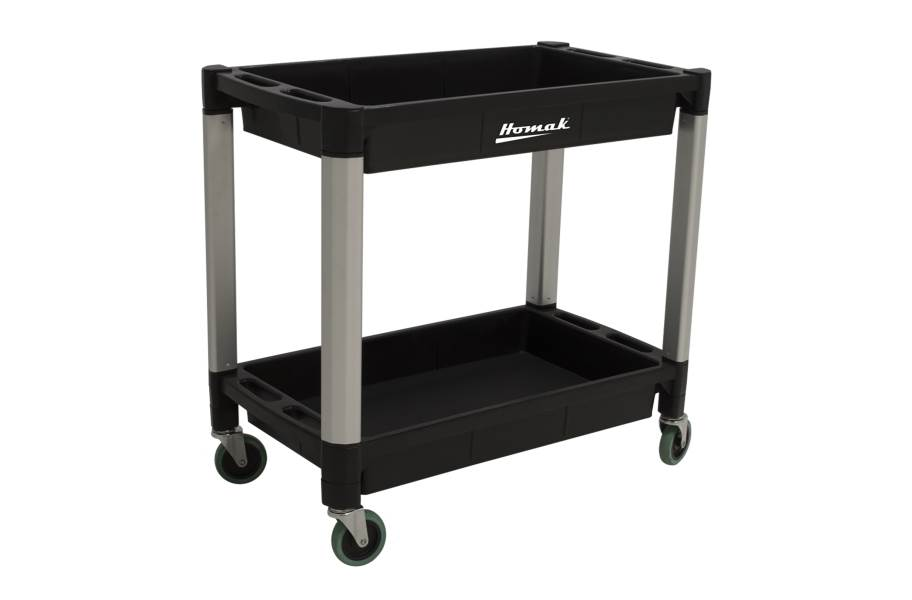 Homak Plastic Utility Carts - 2-Shelf