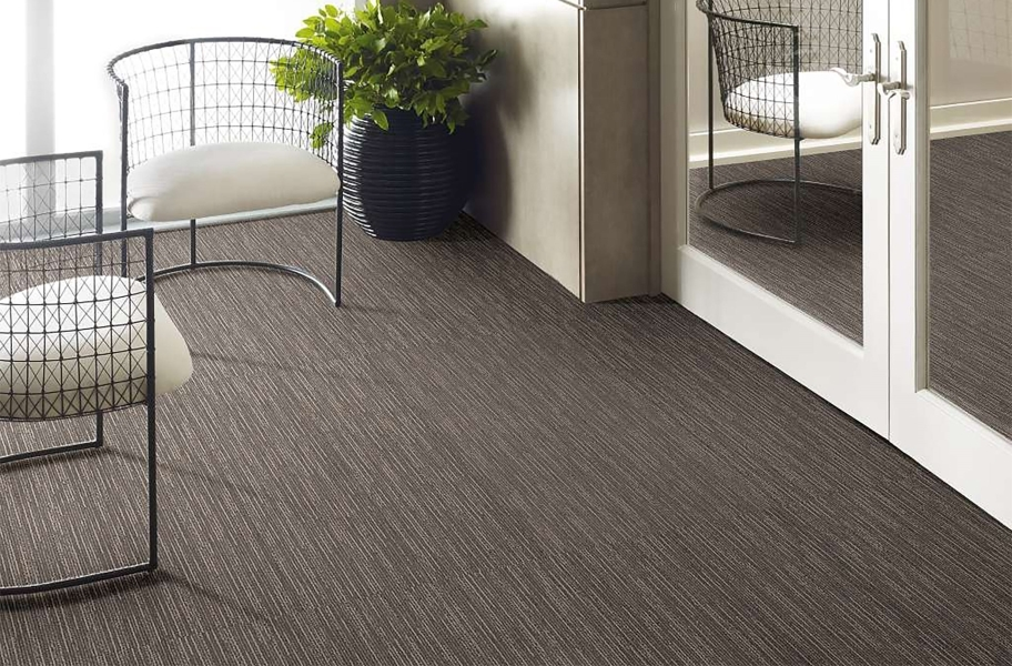 Floorigami Striation Carpet Plank - Gray Furrow
