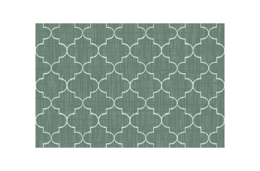 Greco Outdoor Area Rug - Green/White