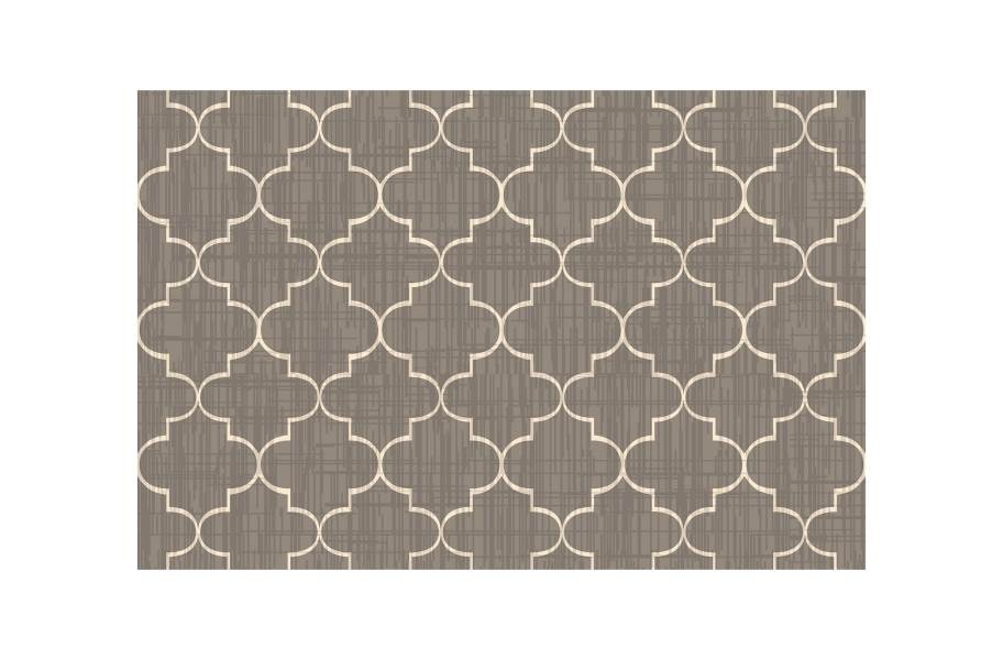 Greco Outdoor Area Rug - Taupe/White