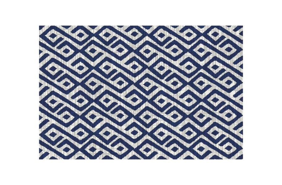 Contours Outdoor Area Rug - Blue/White