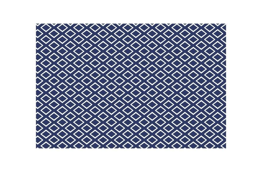 Gemstone Indoor Outdoor Area Rug - Blue/White