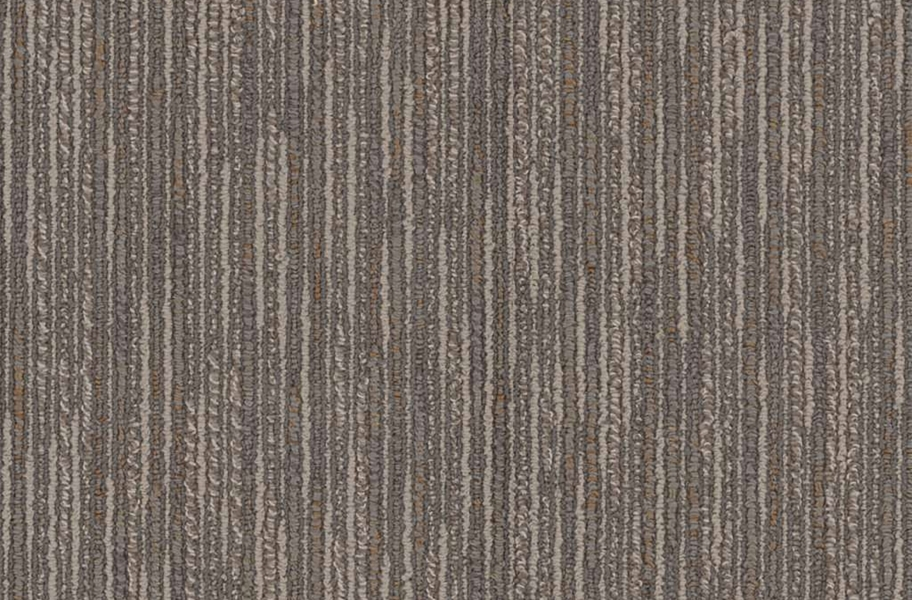 Shaw Floorigami Striation Carpet Plank - Gray Furrow
