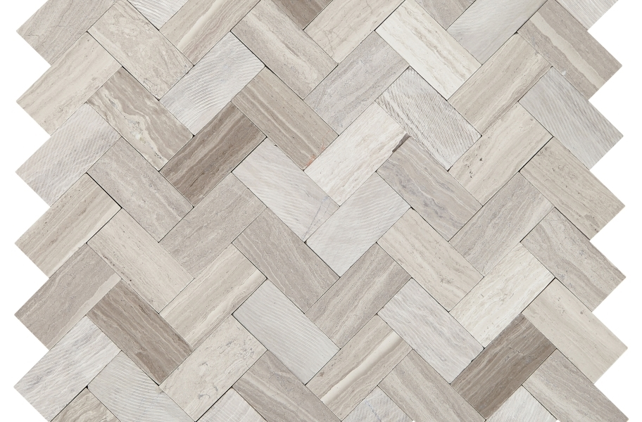 Daltile Minute Mosaix - Chenille White Herringbone