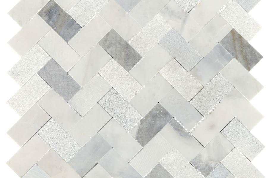 Daltile Minute Mosaix - Stormy Mist Herringbone