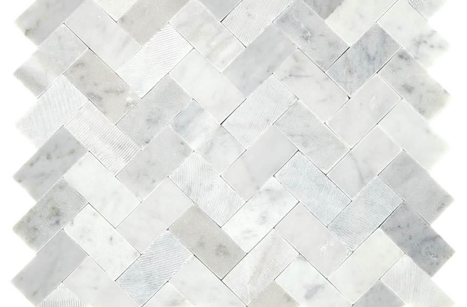 Daltile Minute Mosaix - Carrara White Herringbone