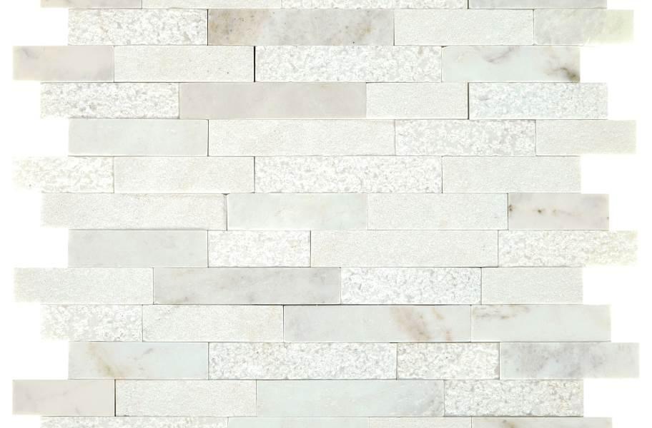 Daltile Minute Mosaix - Daphne White Linear