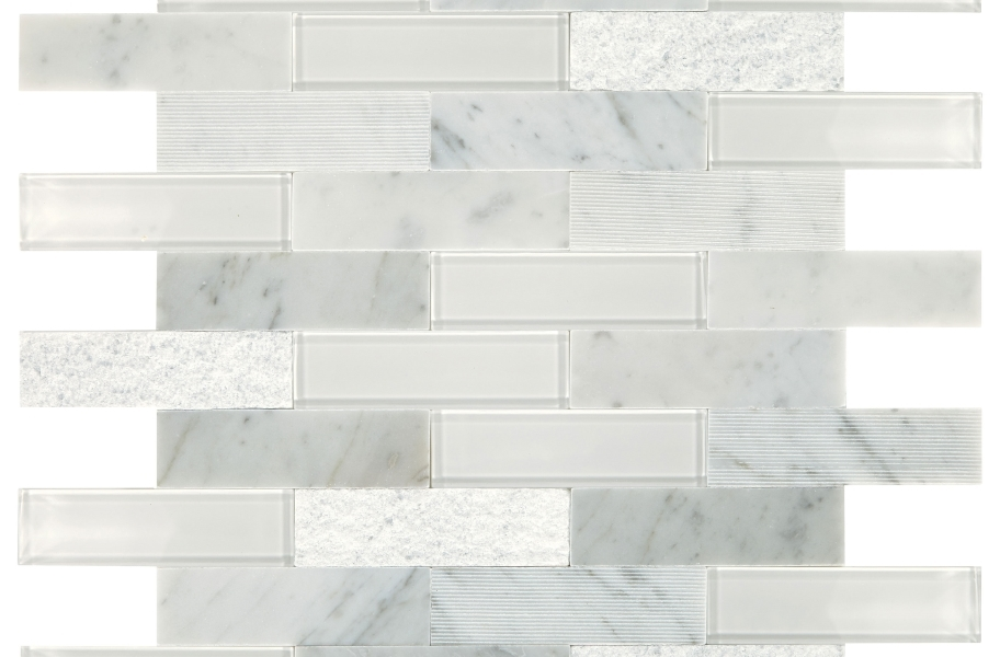 Daltile SimplyStick Mosaix - Carrara White Brick Joint