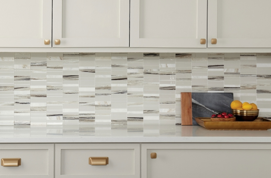 Daltile SimplyStick Mosaix - Daphne White Stack