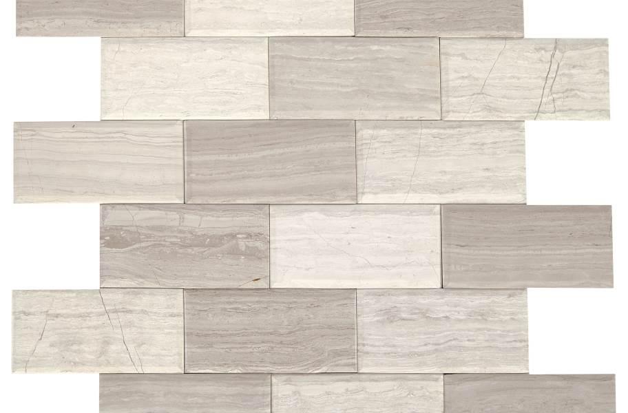 Daltile SimplyStick Mosaix - Chenille White Bevel