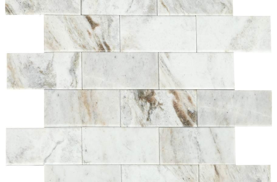 Daltile SimplyStick Mosaix - Daphne White Bevel