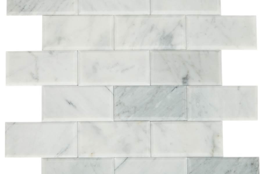 Daltile SimplyStick Mosaix - Carrara White Bevel