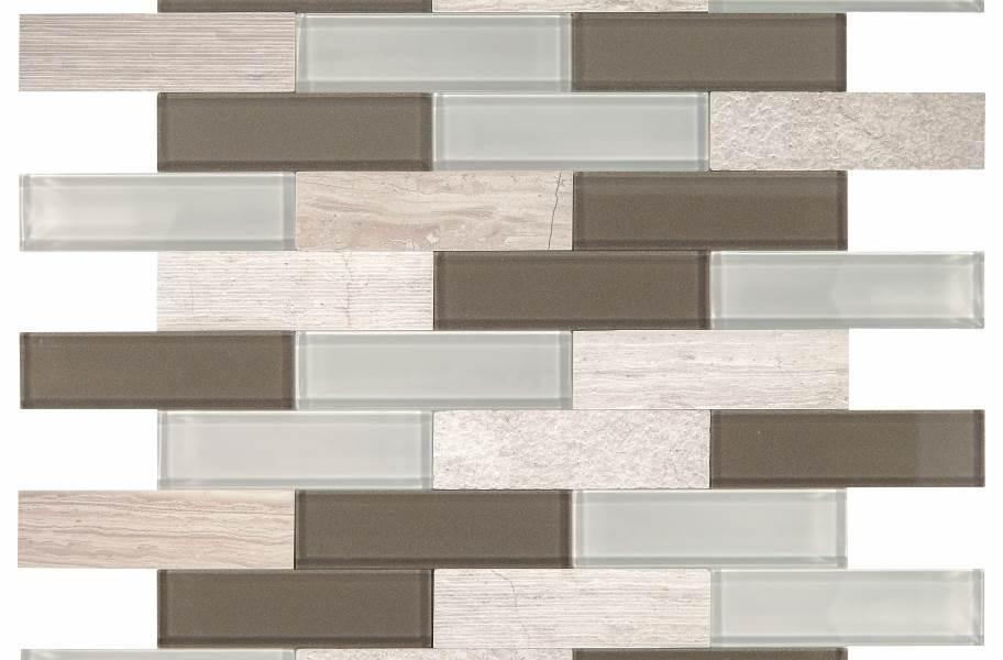 Daltile SimplyStick Mosaix - Chenille White Brick Joint