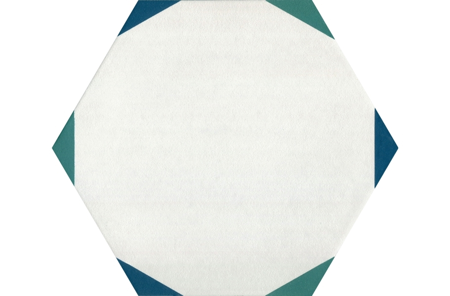 Daltile Bee Hive - Sun Green Blue