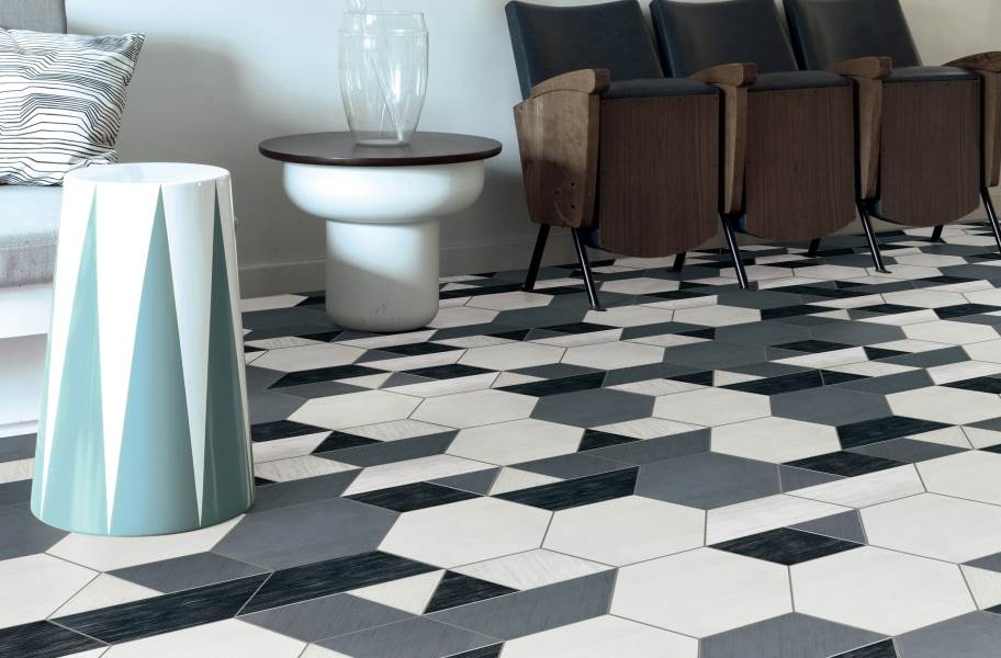 Daltile Bee Hive - Multiplex Grey/White & Black/White