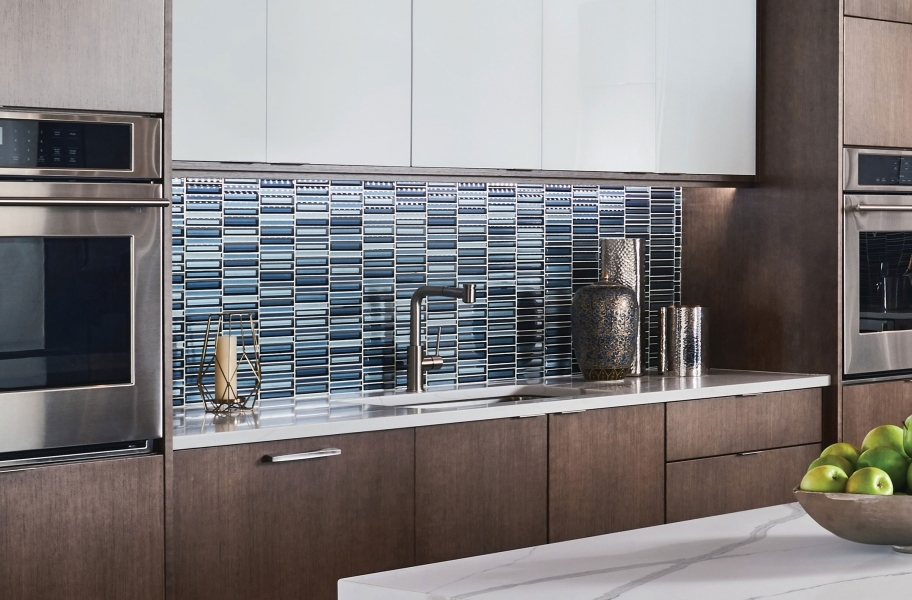 Daltile Cascading Waters Glass Mosaic - Cerulean Swell