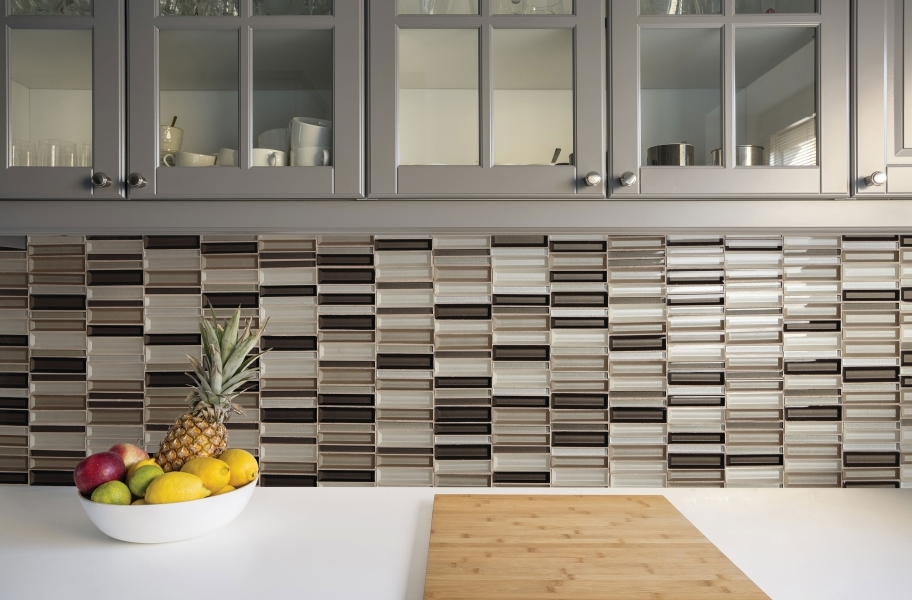 Daltile Cascading Waters Glass Mosaic - Earth Tide