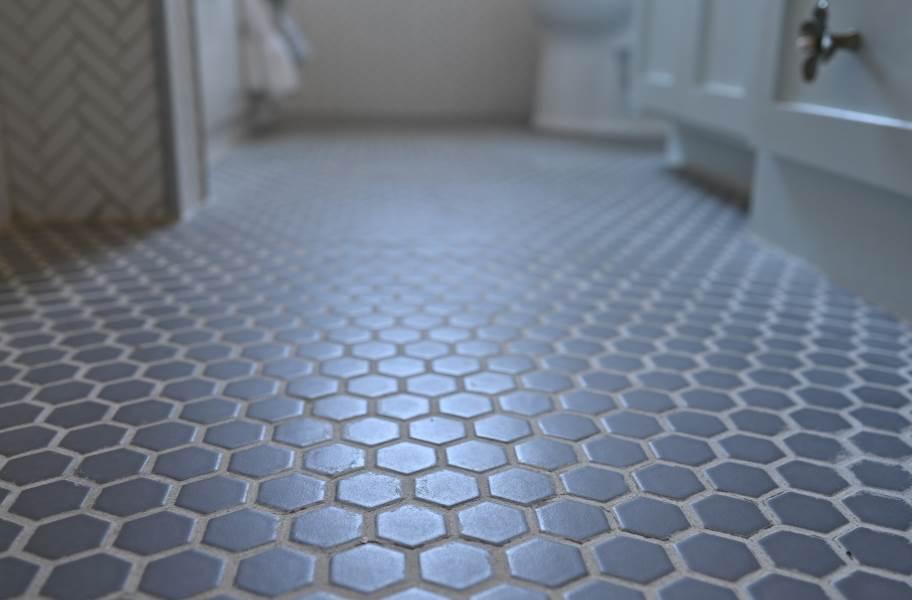 Daltile Color Wheel Mosaic - Hexagon Suede Grey