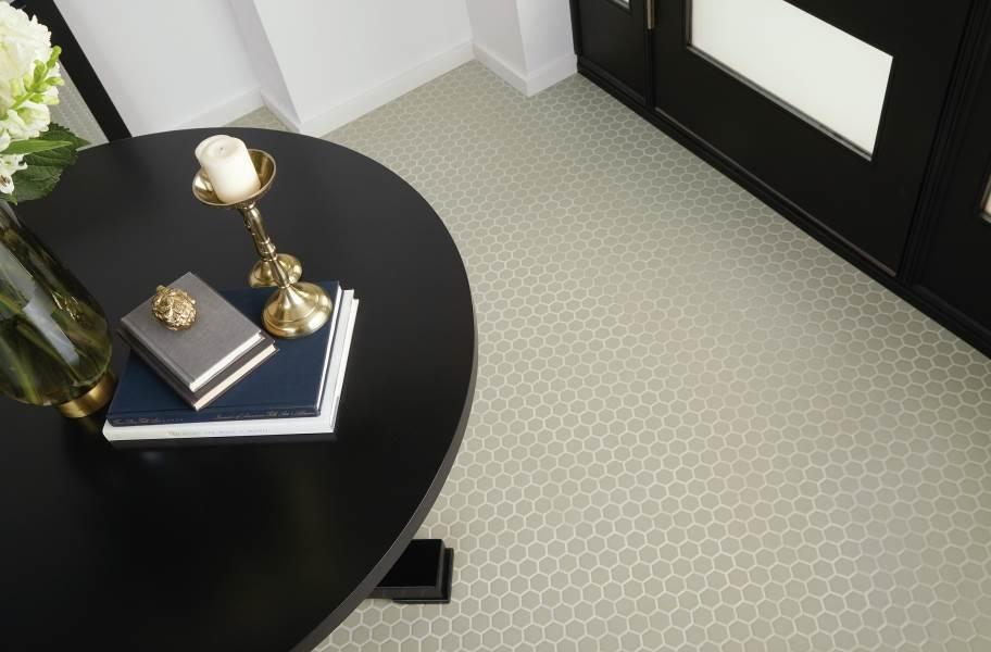 Daltile Color Wheel Mosaic - Hexagon Architectural Gray