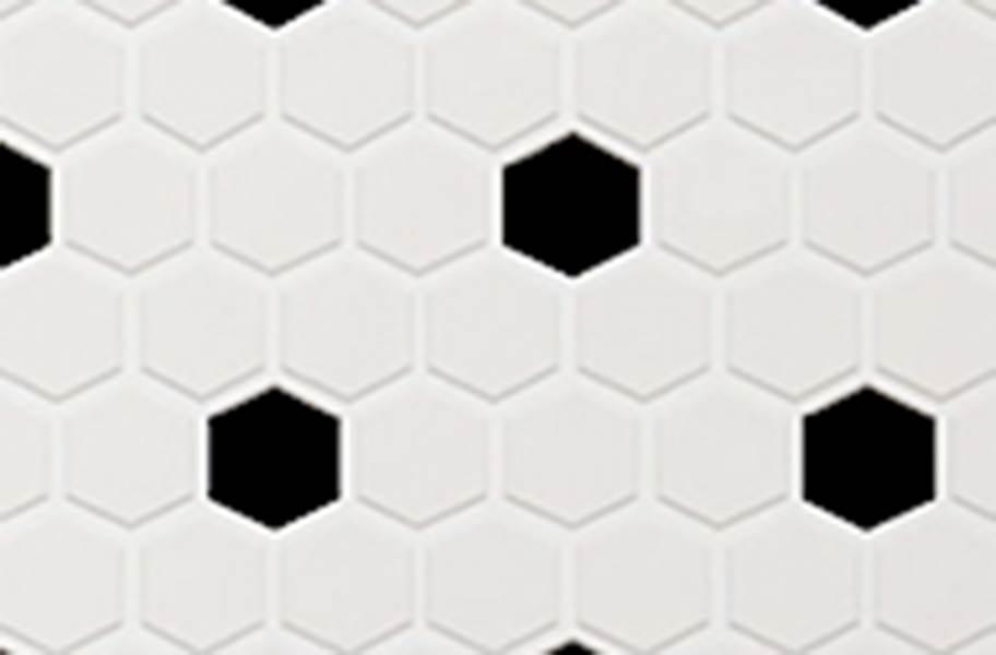 Daltile Color Wheel Mosaic - Arctic White / Black