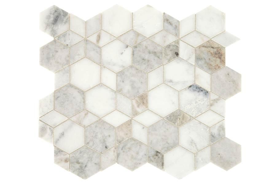 Daltile Sublimity Mosaic - Daphne White Hypnotic