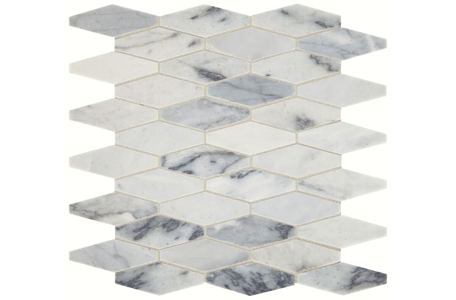 Daltile Sublimity Mosaic - Cirrus Storm Elongated Hexagon